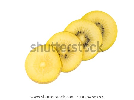 Goud kiwi plakje geïsoleerd witte voedsel Stockfoto © mroz
