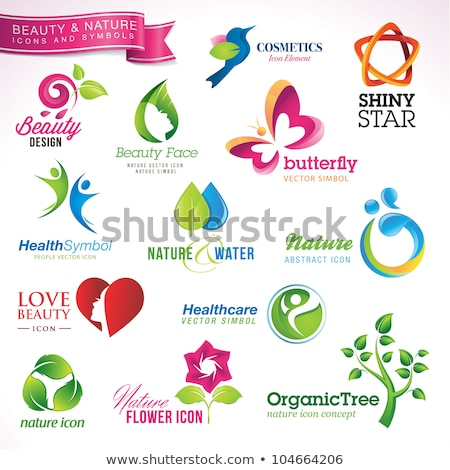 Glossy flower icon set   stock photo © adrian_n