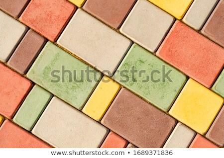 Photo stock: Flag Stone Pattern As Pavement