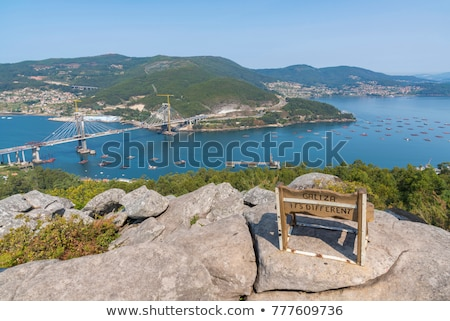 atlantic blue benches views stock photo © morrbyte