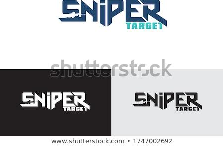 Scherpschutter silhouet oranje militaire illustratie Stockfoto © mayboro