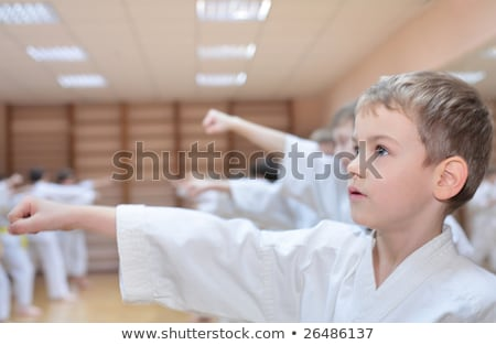 boy in sports hall is engaged in karate Stock photo © Paha_L