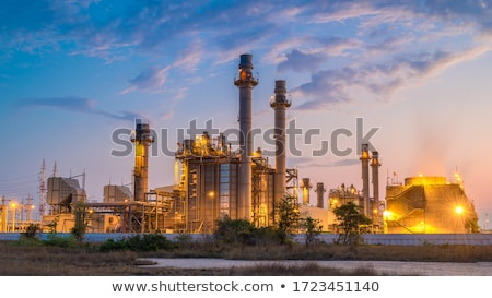 olajipar · finomító · illusztráció · kettő · raktár · tank - stock fotó © pkdinkar