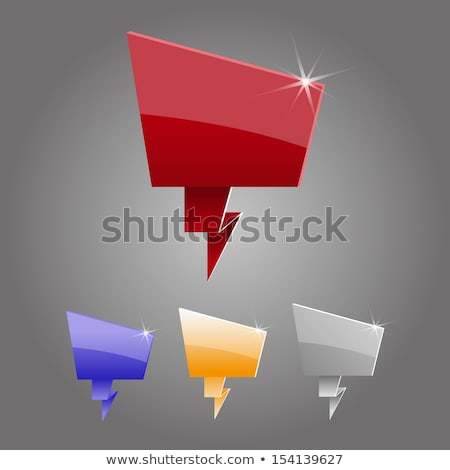 abstract glossy callout chat icon Stock photo © pathakdesigner