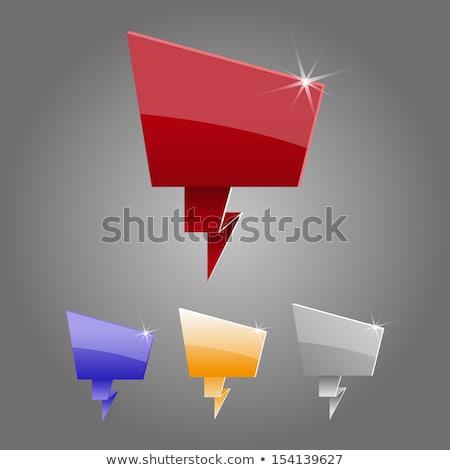 résumé · chat · icône · bureau · imprimer - photo stock © pathakdesigner