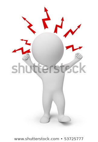 3d small people   angry stock photo © anatolym