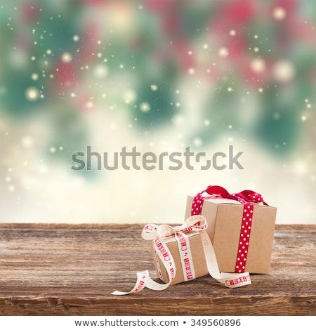 Рождества · приветствие · два · бумаги · дерево - Сток-фото © Alkestida