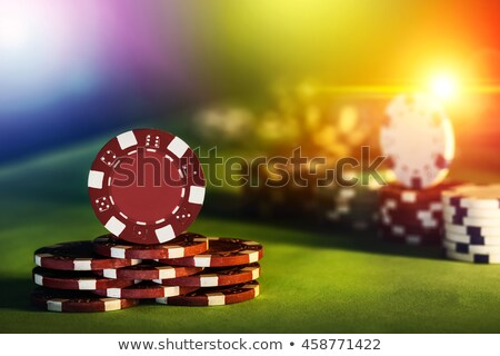 Close-up of plastic gambling chips Stock photo © Balefire9