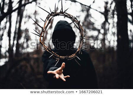 Jesus wearing crown of thorns Stock photo © lovleah