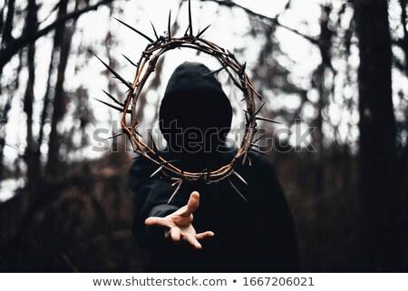 Библии · корона · черный · кожа · золото - Сток-фото © lovleah