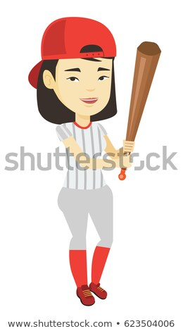 Asian Woman Baseball Player Stock photo © piedmontphoto