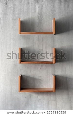 set empty bookshelf stock photo © adamson