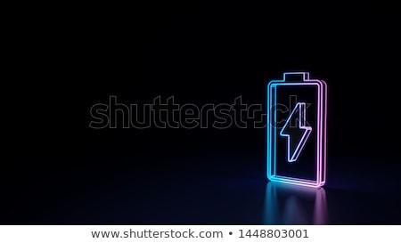 Résumé batterie icône printemps design été Photo stock © rioillustrator