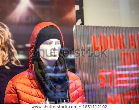 ストックフォト: マネキン · 販売 · 冬 · 服 · 女性 · モデル