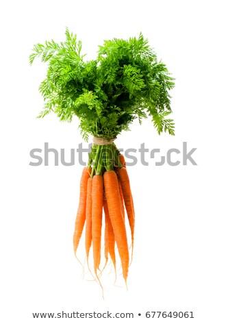organique · carottes · bois · alimentaire · orange · marché - photo stock © kalozzolak