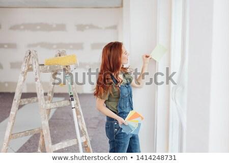 Stok fotoğraf: Kadın · boya · renk · kâğıt · gökkuşağı