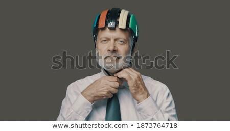 senior businessman wearing a helmet stock photo © photography33