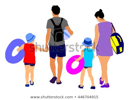 Mother and daughter going swimming in the sea Stock photo © photography33
