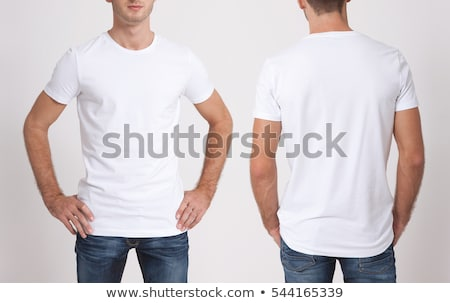 Front of a clean White T-Shirt Stock photo © ozaiachin