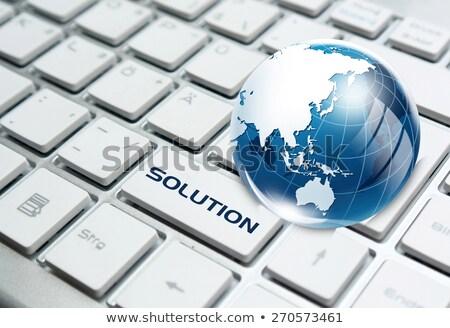 Vidro globo teclado negócio terra Foto stock © yoshiyayo