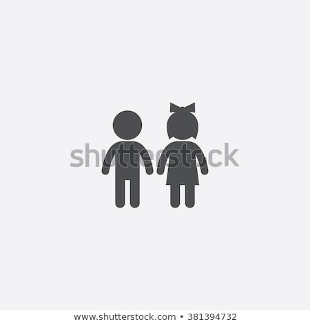Boy and girl Sign stock photo © MilosBekic