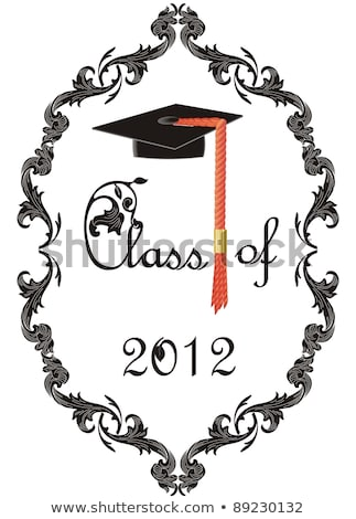 Class of 2012 - Graduation Cap Final Education Ceremony Stock photo © iqoncept