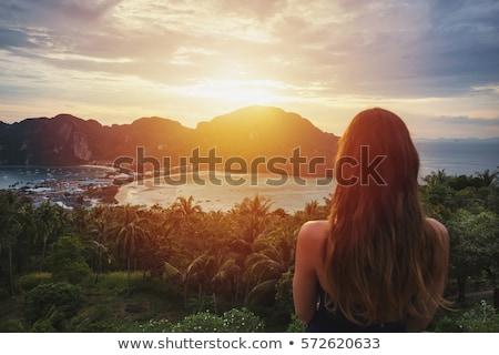 девушки · воды · пляж · острове · тайский · Таиланд - Сток-фото © smithore