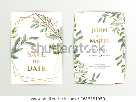 Set of banners with green leaves and flowers stock photo © AnnaVolkova