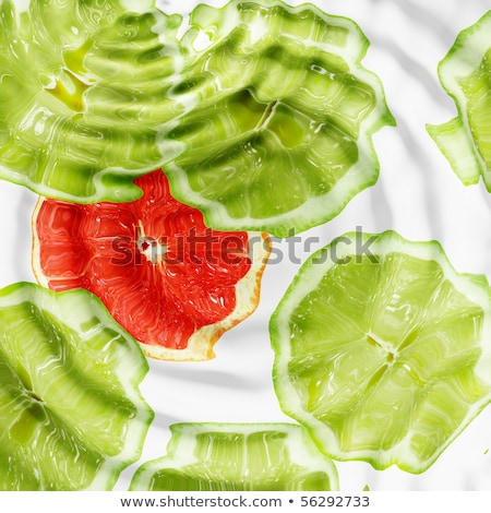 Set of cross a citrus fruits under water Stock photo © boroda