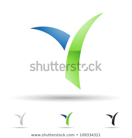 Glossy Icons for letter Y stock photo © cidepix