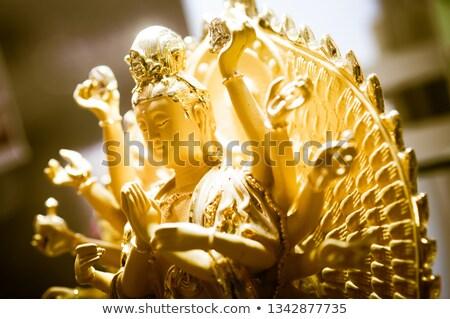 Dourado estátua 1000 mãos adorar deus Foto stock © Witthaya