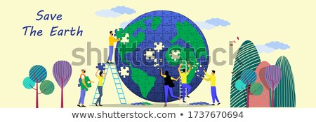 earth of the puzzle stock photo © anatolym