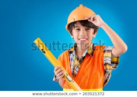 cabeça · ombros · jovem · cara · construção - foto stock © photography33
