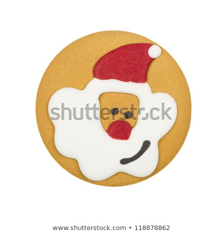 Rosto sorridente pão biscoitos branco sorrir feliz Foto stock © kawing921
