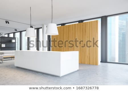 Window illuminates a seating area Stock photo © 3523studio