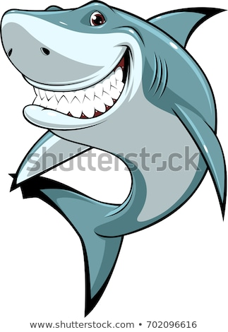 Happy shark  Stock photo © dagadu