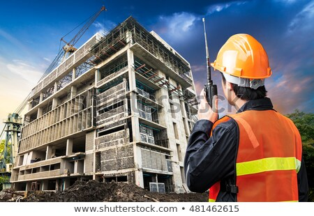 Site engineers with a walky talky Stock photo © photography33