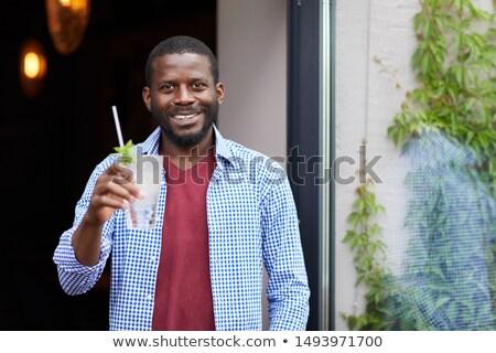 Portré fiatalember afrikai leszármazás szelektív fókusz fókusz Stock fotó © ildi