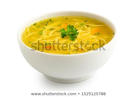 çorba · tavuk · tablo · yumurta · sağlıklı - stok fotoğraf © ildi