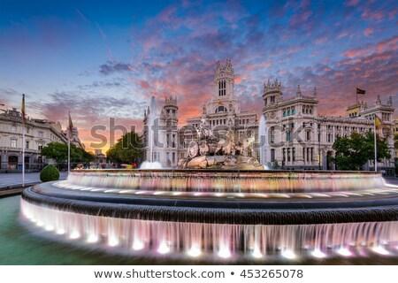 Fonte noite cidade Madri Espanha Foto stock © rognar