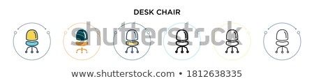 office desks and black chairs cubicle set  Stock photo © keko64