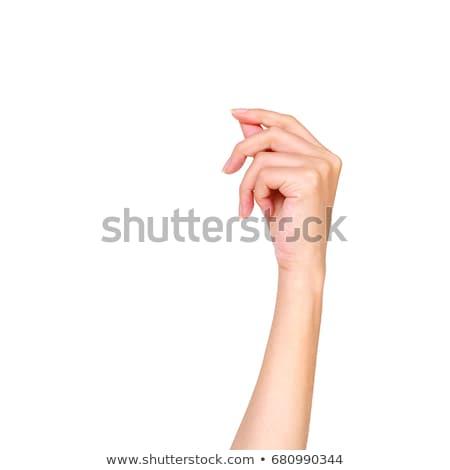 Paper card in woman hand stock photo © Taigi