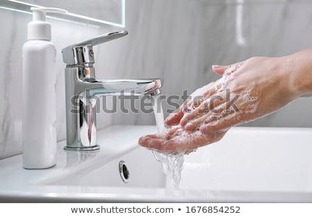 limpio · sucia · agua · manos · mujer - foto stock © taigi