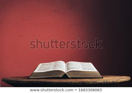 Holz Rosenkranz öffnen Bibel Buch beten Stock foto © jirkaejc