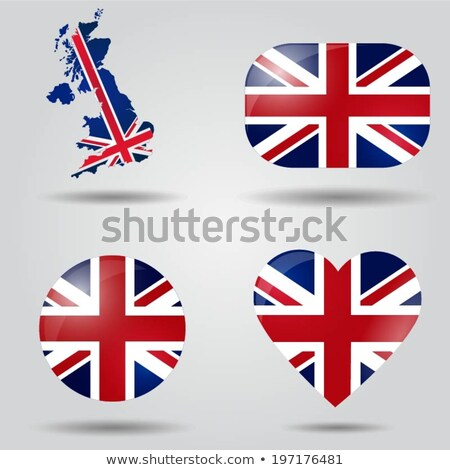 image of heart with flag of united kingdom stock photo © perysty