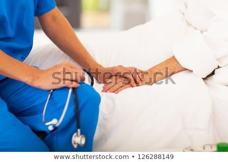 dostça · hasta · bakım · hemşire · yaşlı - stok fotoğraf © lisafx
