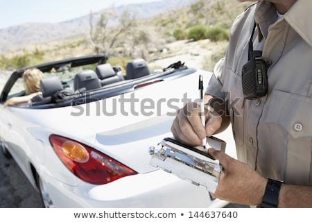 полицейский · Дать · билета · люди · работу · метафора - Сток-фото © lisafx