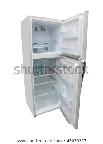 The image of open refrigerator under the white background Stock photo © ozaiachin