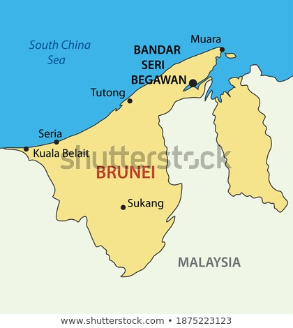 State of Brunei, the Abode of Peace Stock photo © Vectorminator