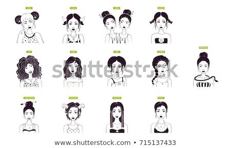 woman cartoon illustration libra sign Stock photo © izakowski